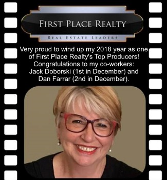 Very proud to wind up my 2018 year as one of First Place Realty's Top Producers in December!